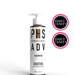 Award Winning PHS HAIRSCIENCE ADV Soothe Shampoo for Sensitive Scalp