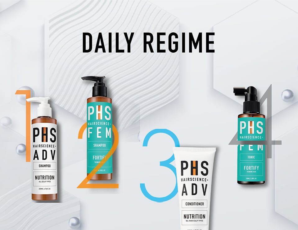 PHS HAIRSCIENCE®️ Home Page Daily Regime Cover