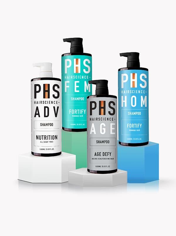 PHS HAIRSCIENCE®️ Assorted Shampoo 1000ml