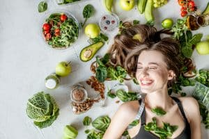 healthy diet and female hair