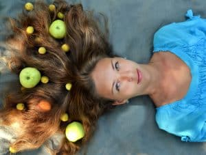 food with vitamins on long hair