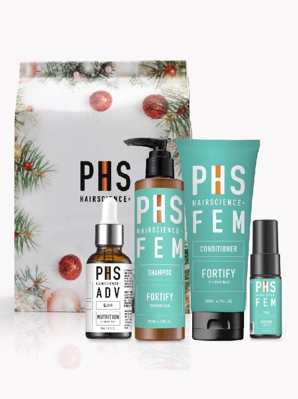 PHS HAIRSCIENCE®️ FEM Fortify Festive Set