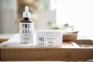 PHS Hairscience weekly treatment with scalp exfoliator and hair mask